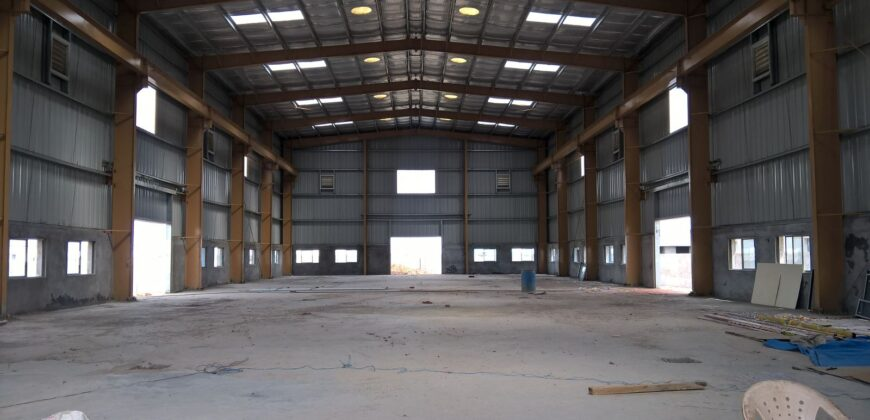 64000 Sq.ft Industrial Shed for rent in Kadi