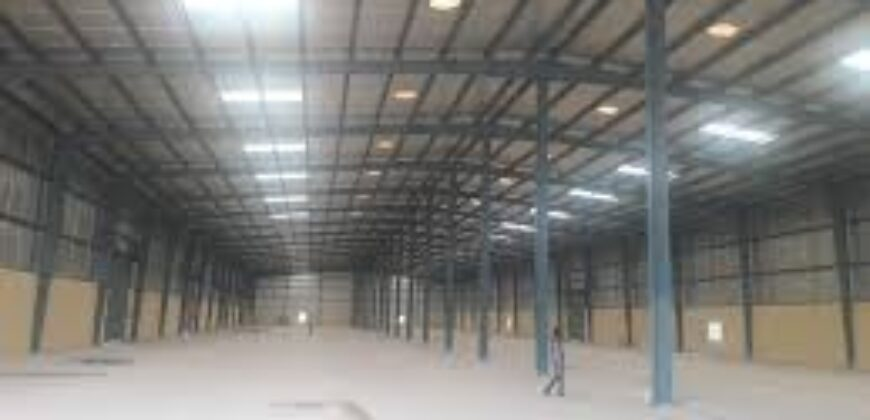 100000 sq.ft Industrial shed for lease in Chhatral, Ahmedabad